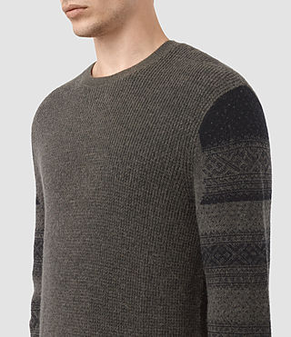 Hombre Wyre Crew Sweater (KHAKI GREEN/BLACK) - product_image_alt_text_2