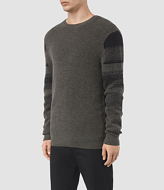 Hombre Wyre Crew Sweater (KHAKI GREEN/BLACK) - product_image_alt_text_3