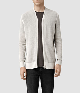 Mens Fellan Zip Cardigan (Light Grey Marl)