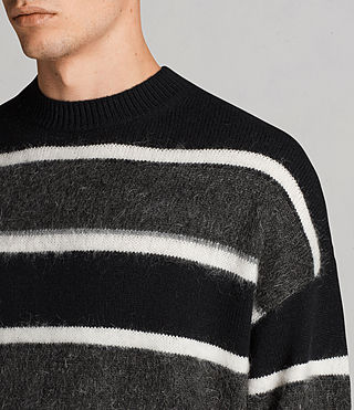 Men's Edi Crew Jumper (Black/White) - Image 2
