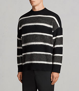 Men's Edi Crew Jumper (Black/White) - Image 3