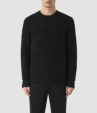 Herren Blakely Crew Jumper (Black)
