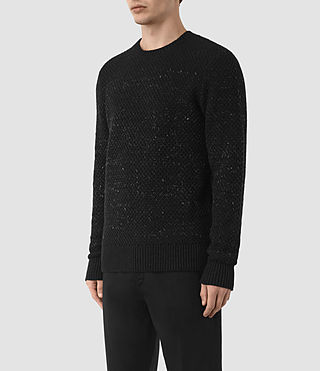 Mens Blakely Crew Sweater (Black) - product_image_alt_text_2