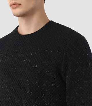 Mens Blakely Crew Sweater (Black) - product_image_alt_text_3