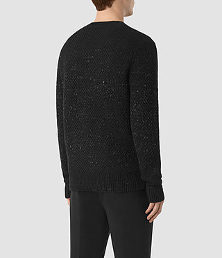 Mens Blakely Crew Sweater (Black) - product_image_alt_text_4