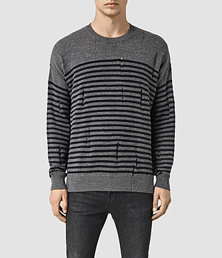 Men's Coast Crew Jumper (CHARCL MRL/INK NVY)