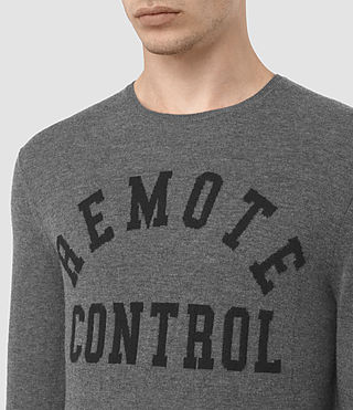 Hombres Remote Crew (Charcoal Marl) - product_image_alt_text_2