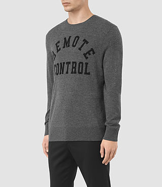 Hombres Remote Crew (Charcoal Marl) - product_image_alt_text_3