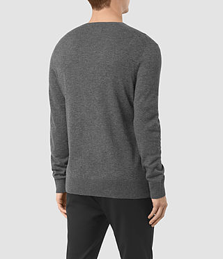 Hombres Remote Crew (Charcoal Marl) - product_image_alt_text_4