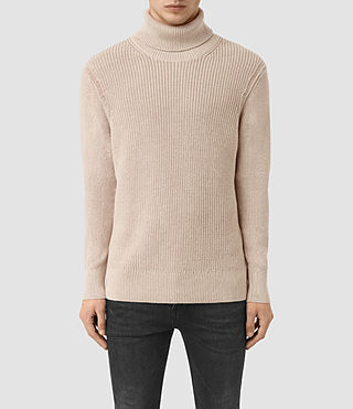 Mens Rothay Funnel Sweater (Taupe Marl)