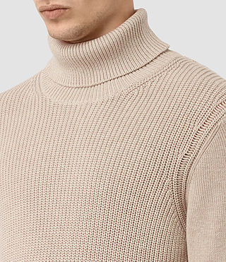 Men's Rothay Funnel Jumper (Taupe Marl) - product_image_alt_text_2