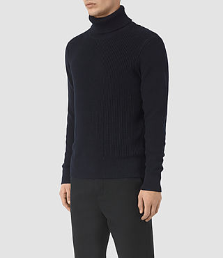 Mens Rothay Funnel Sweater (INK NAVY) - product_image_alt_text_3