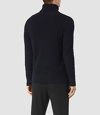 Mens Rothay Funnel Sweater (INK NAVY) - product_image_alt_text_4