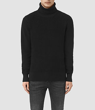 Mens Rothay Funnel Sweater (Black) - product_image_alt_text_1