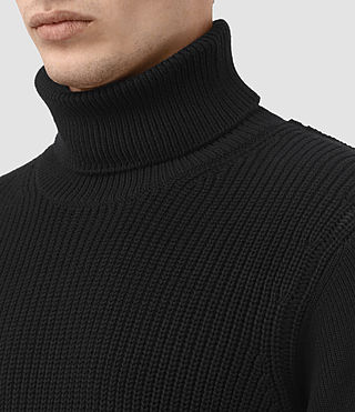 Mens Rothay Funnel Sweater (Black) - product_image_alt_text_2