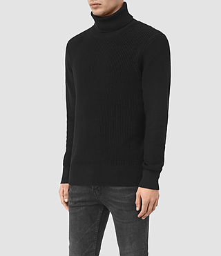 Mens Rothay Funnel Sweater (Black) - product_image_alt_text_3