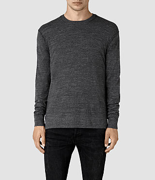 Hombre Powan Crew Sweater (Charcoal Marl) - product_image_alt_text_1