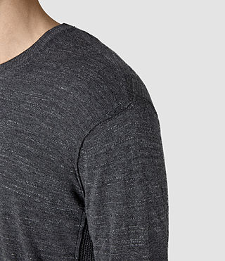 Men's Powan Crew Jumper (Charcoal Marl) - product_image_alt_text_2