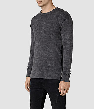 Men's Powan Crew Jumper (Charcoal Marl) - product_image_alt_text_3