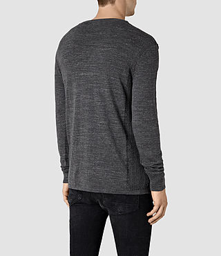 Men's Powan Crew Jumper (Charcoal Marl) - product_image_alt_text_4