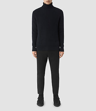 Mens Karnett Roll Neck Sweater (INK NAVY) - product_image_alt_text_1