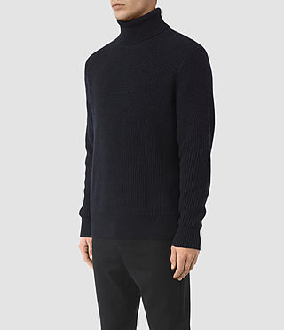 Mens Karnett Roll Neck Sweater (INK NAVY) - product_image_alt_text_2