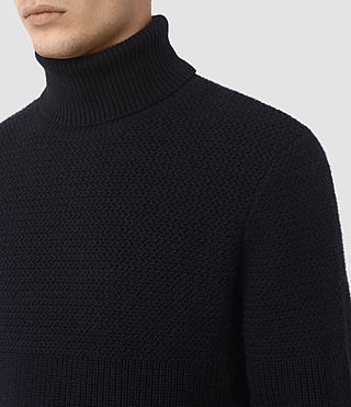Mens Karnett Roll Neck Sweater (INK NAVY) - product_image_alt_text_3