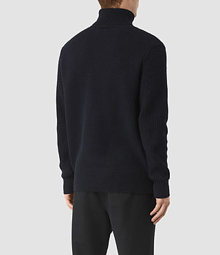 Mens Karnett Roll Neck Sweater (INK NAVY) - product_image_alt_text_4