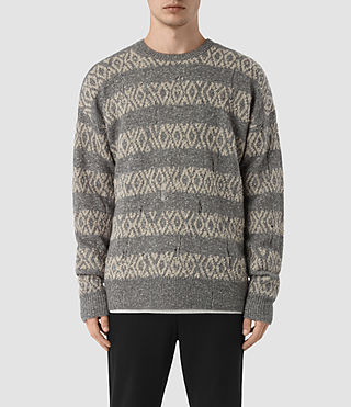 Men's Mayver Crew Jumper (Grey Marl)