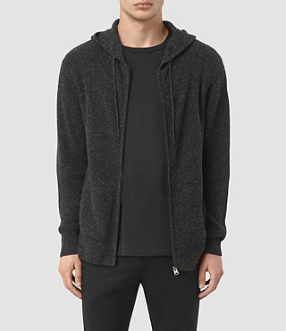 Men's Hiru Cashmere Hoody (Dark Charcoal Mrl) -
