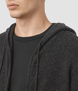 Men's Hiru Cashmere Hoody (Dark Charcoal Mrl) - product_image_alt_text_2