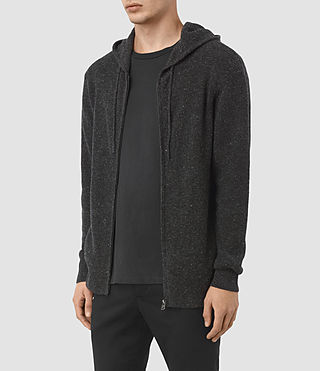 Men's Hiru Cashmere Hoody (Dark Charcoal Mrl) - product_image_alt_text_3
