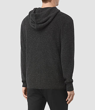 Men's Hiru Cashmere Hoody (Dark Charcoal Mrl) - product_image_alt_text_4