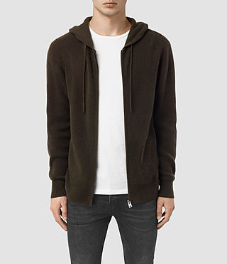 Men's Hiru Cashmere Hoody (Umber Brown) - product_image_alt_text_1