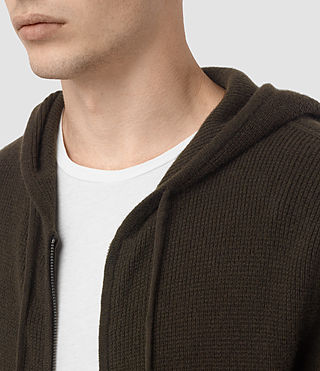 Hommes Hiru Cashmere Hoody (Umber Brown) - product_image_alt_text_2