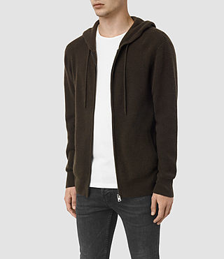 Hommes Hiru Cashmere Hoody (Umber Brown) - product_image_alt_text_3