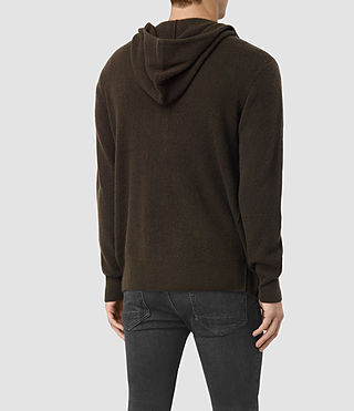 Hommes Hiru Cashmere Hoody (Umber Brown) - product_image_alt_text_4