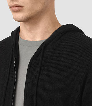 Men's Hiru Cashmere Hoody (Black) - product_image_alt_text_2