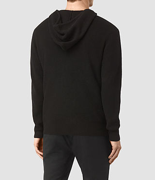 Men's Hiru Cashmere Hoody (Black) - product_image_alt_text_4