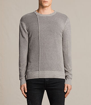 Hommes Marrin Crew Jumper (PUTTY GREY MARL) -