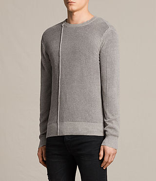 Hommes Marrin Crew Jumper (PUTTY GREY MARL) - product_image_alt_text_3
