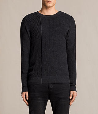 Mens Marrin Crew Sweater (Cinder Black Marl) - product_image_alt_text_1