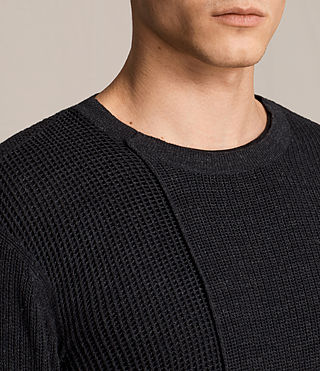 Mens Marrin Crew Sweater (Cinder Black Marl) - product_image_alt_text_2