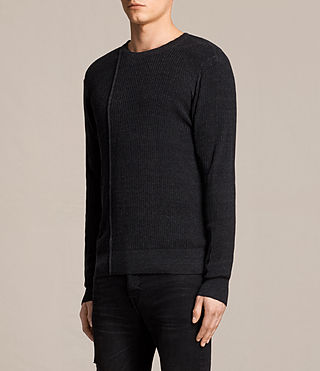 Mens Marrin Crew Sweater (Cinder Black Marl) - product_image_alt_text_3