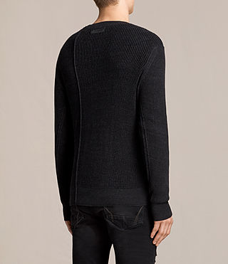 Mens Marrin Crew Sweater (Cinder Black Marl) - product_image_alt_text_4