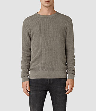Mens Marrin Crew Jumper (Military Grey) - product_image_alt_text_1