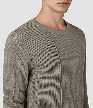 Mens Marrin Crew Jumper (Military Grey) - product_image_alt_text_2