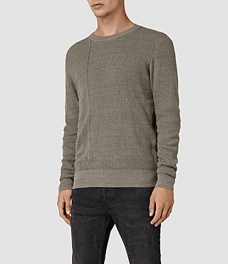 Mens Marrin Crew Jumper (Military Grey) - product_image_alt_text_3