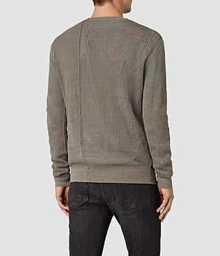 Mens Marrin Crew Jumper (Military Grey) - product_image_alt_text_4