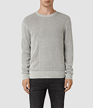 Hombres Marrin Crew Jumper (Light Grey Marl)